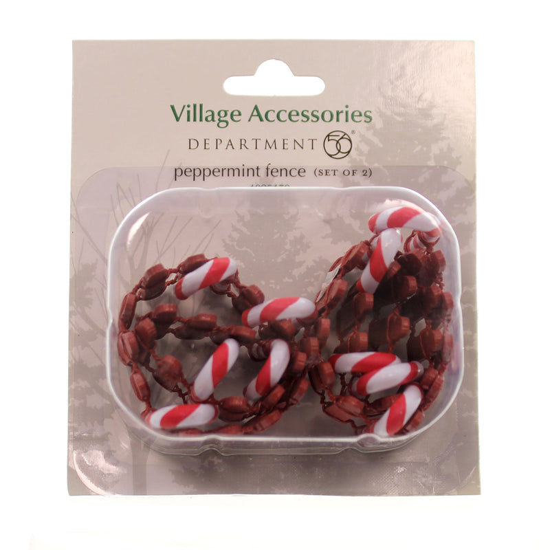Dept 56 Accesory Peppermint Fence Set/2 Village Accessory