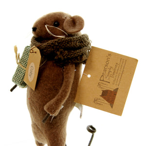Primitive Coby Mouse Christmas Figurine