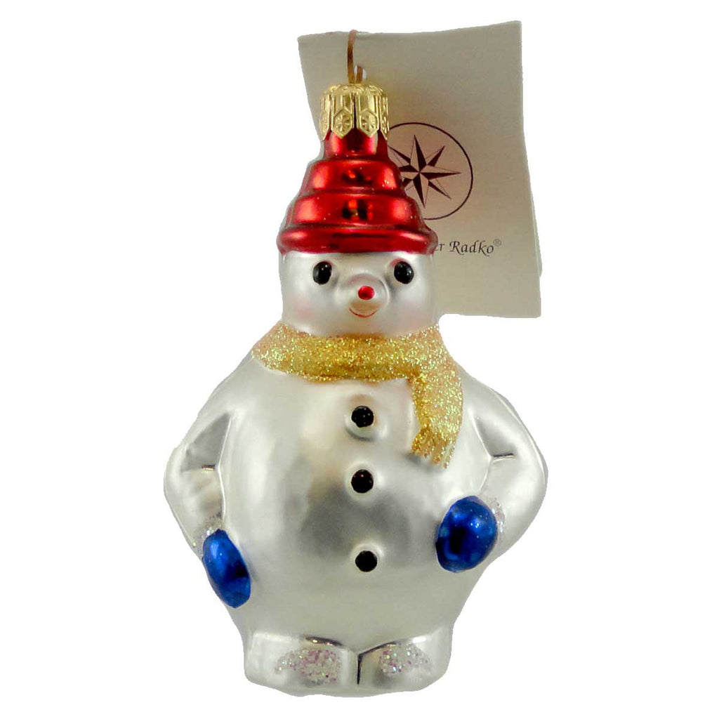 Christopher Radko Pee Wee Frosty Glass Ornament