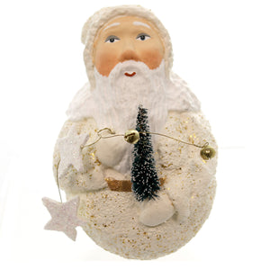 Christmas Father Frost Roly Poly W/Tree Christmas Figurine