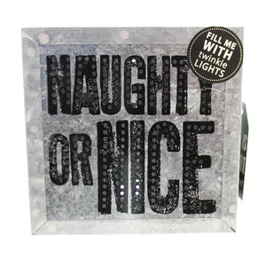 Christmas Naughty Or Nice Metal Wall Art Christmas Decor