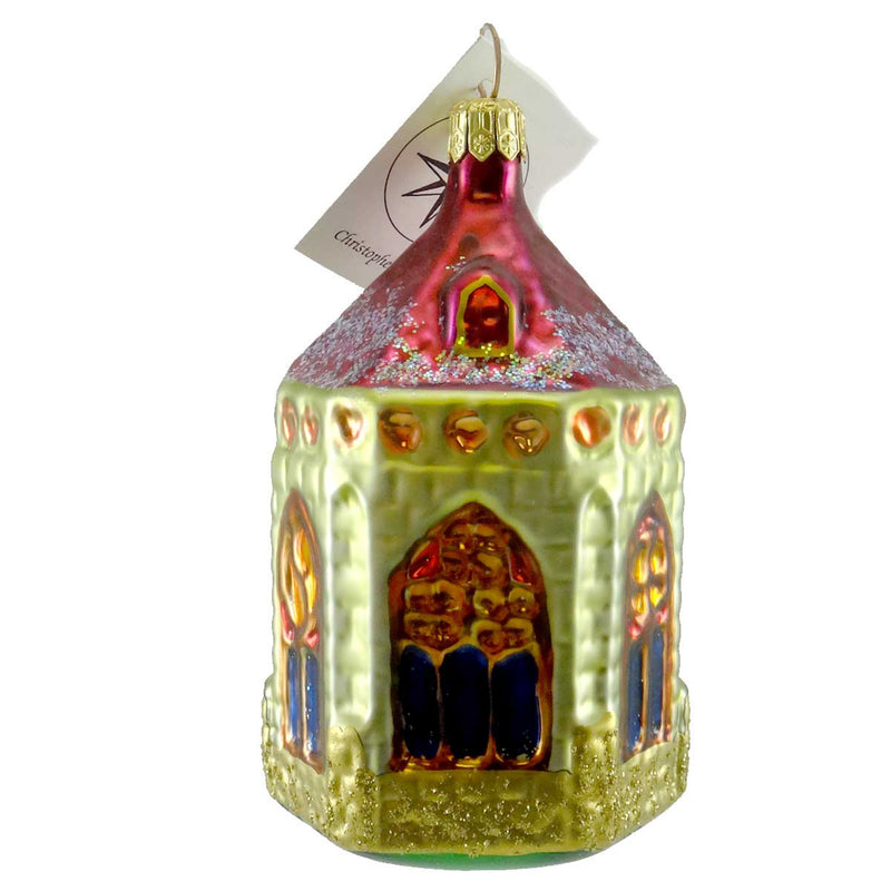 Christopher Radko Arthurs Chapel Glass Ornament