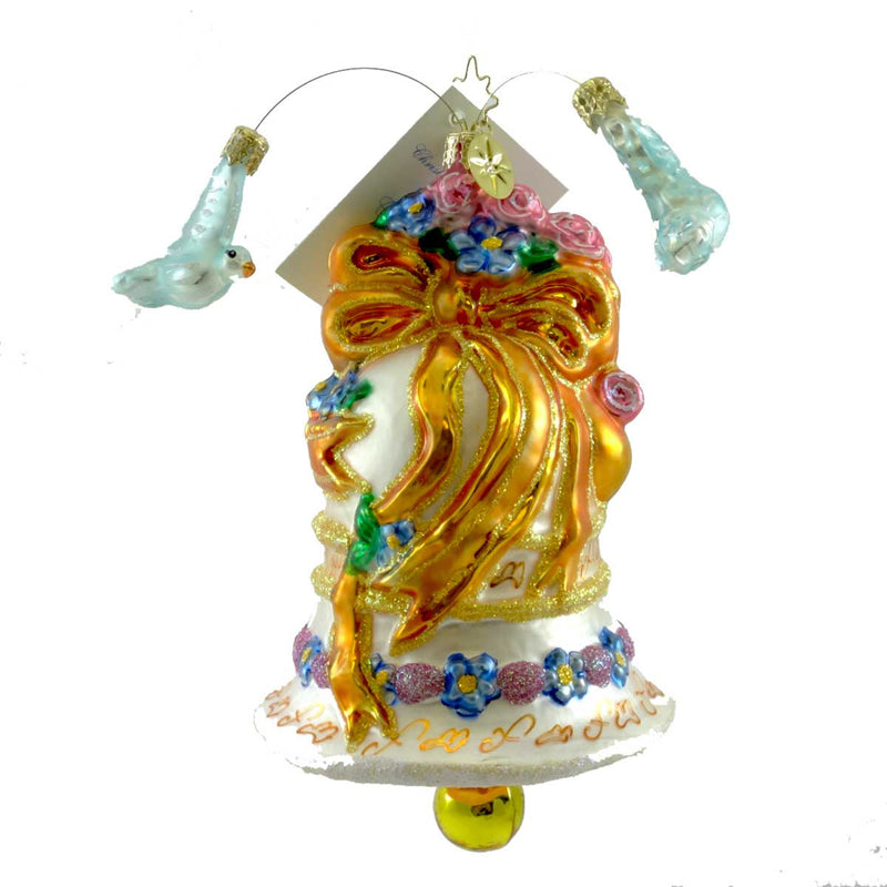 Christopher Radko Wedded Dove Chime Glass Ornament