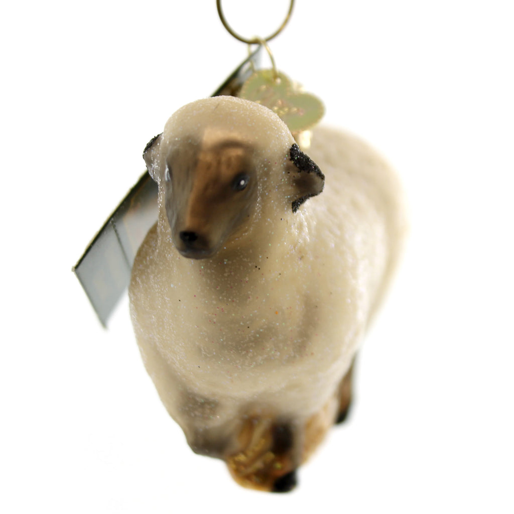 Old World Christmas Sheep Glass Ornament