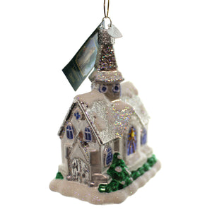 Old World Christmas Sparkling Cathedral Glass Ornament