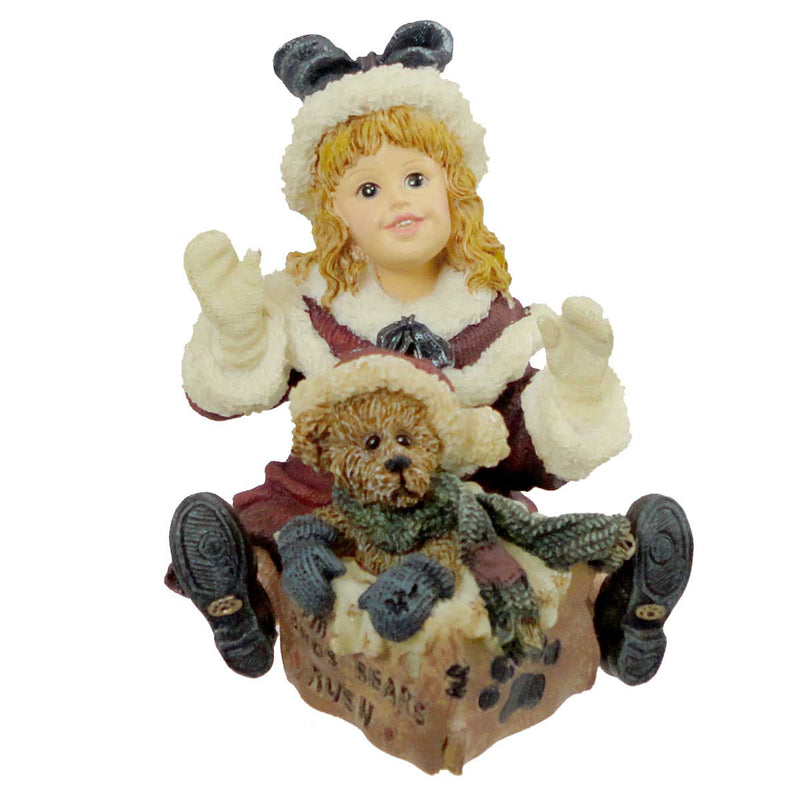 Boyds Bears Resin Kimberly With Klaus Special Christmas Figurine