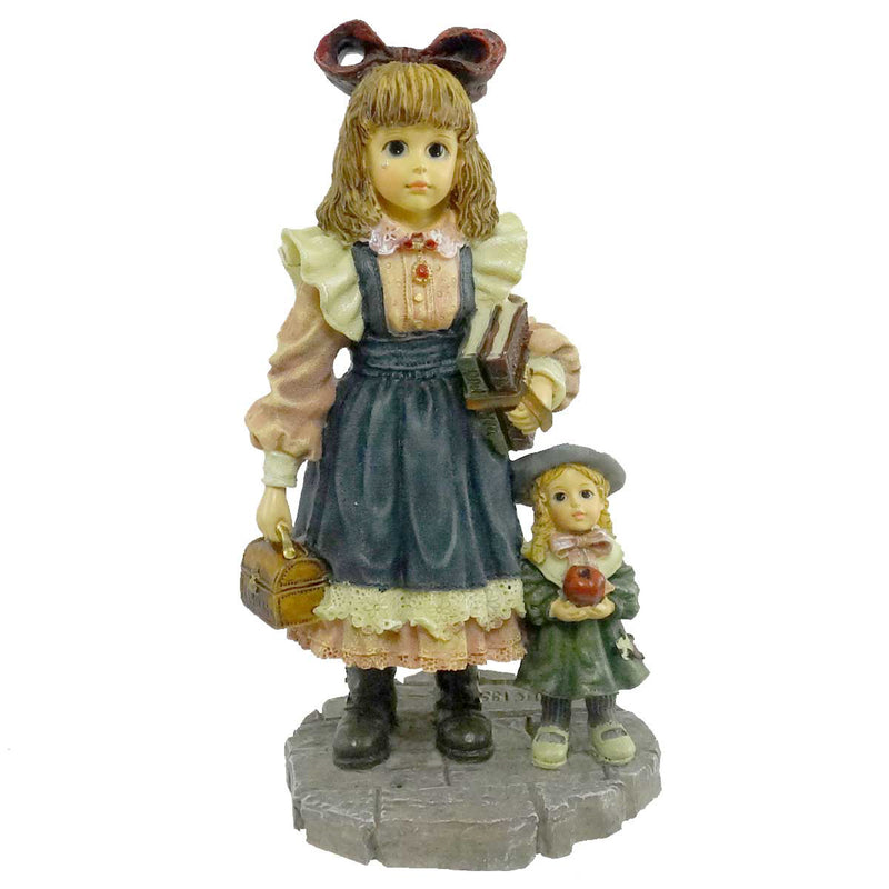 Boyds Bears Resin Laura W/ Jane First Day Of School Figurine