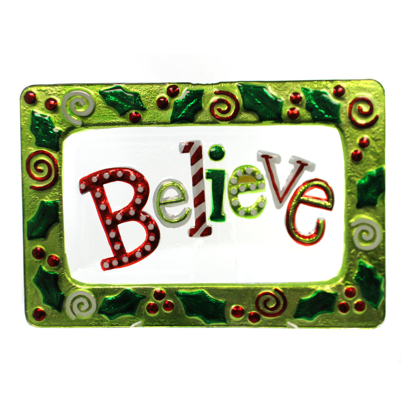 Believe Christmas Platter Xm929 Tabletop Plates And Platters - SBKGIFTS.COM - SBK Gifts Christmas Shop Cincinnati - Story Book Kids