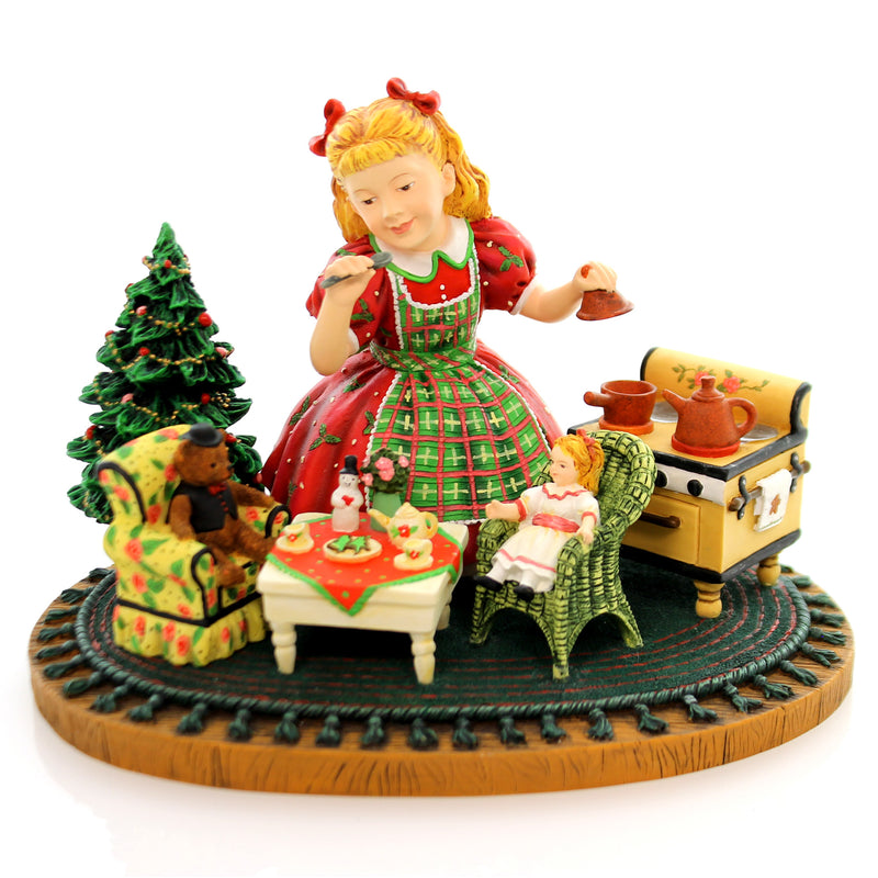 Christmas Muffy's Tea Party Christmas Figurine