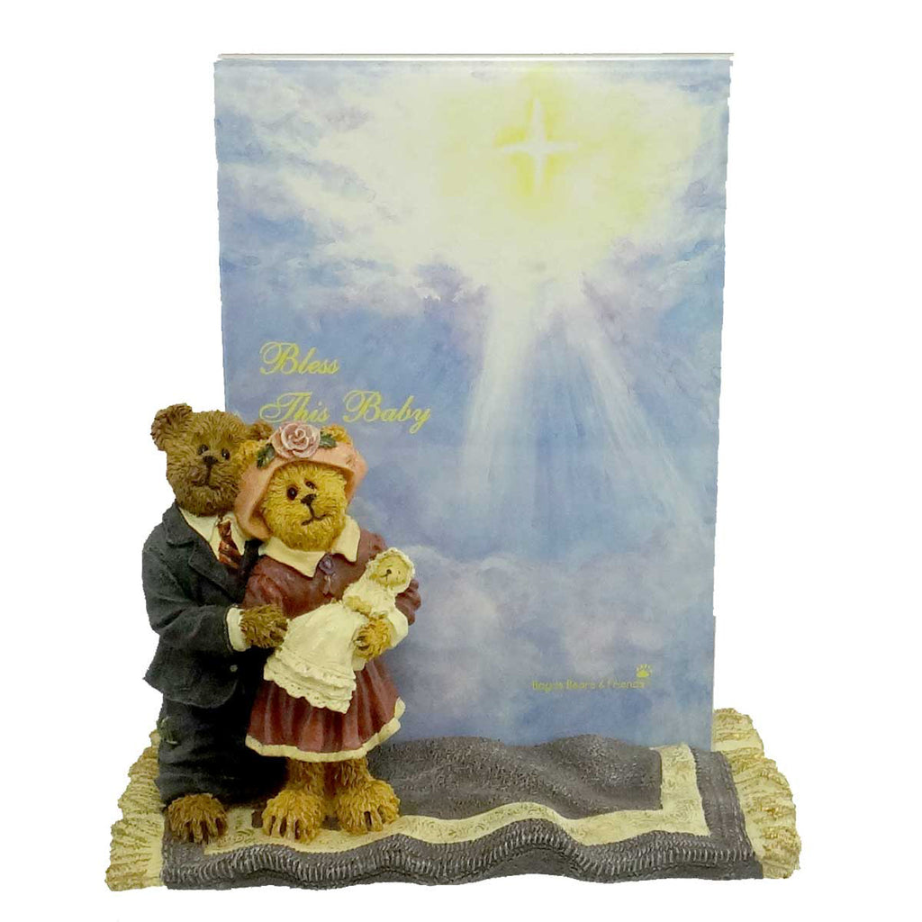 Boyds Bears Resin James & Kathleen W/ Baby BlessingsFrame