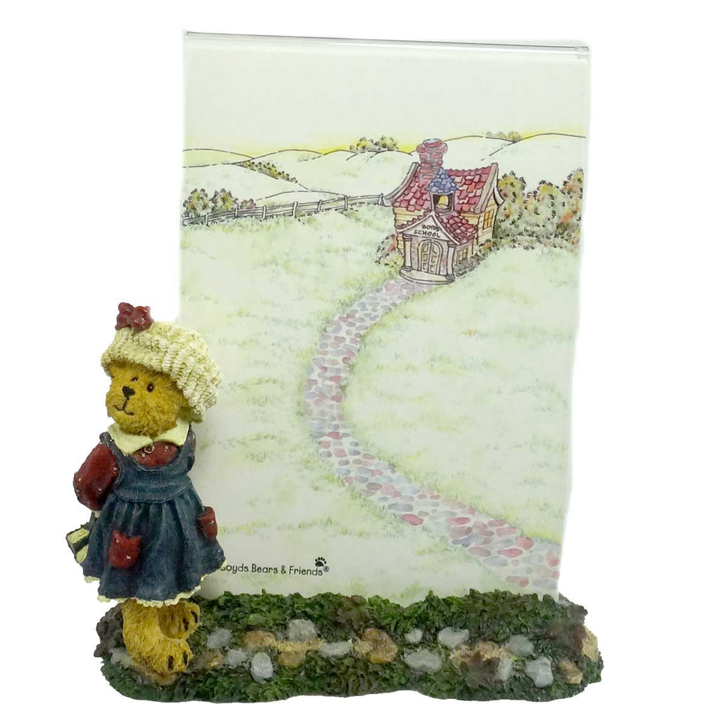 Boyds Bears Resin Bailey Off To School Frame