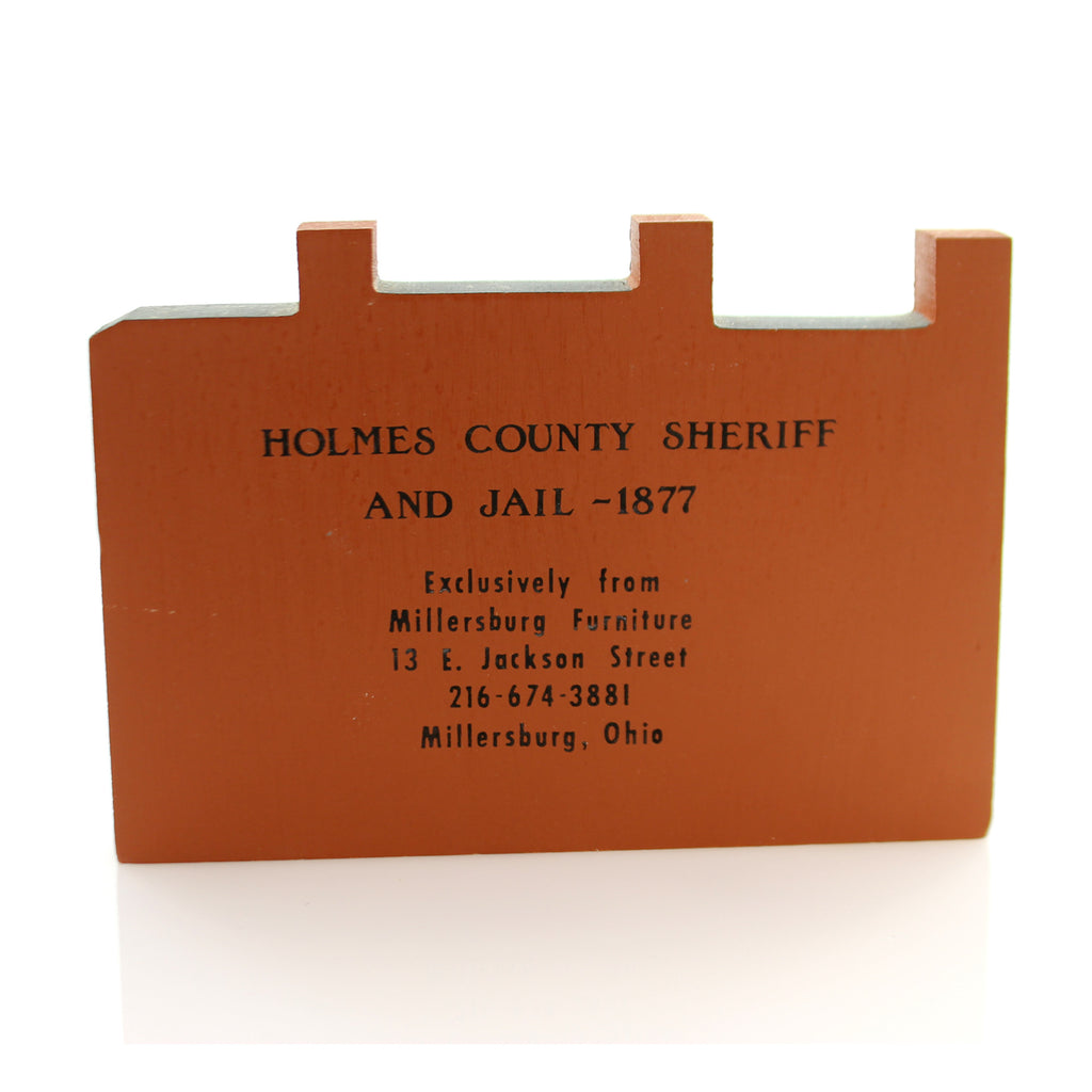 Cats Meow Village Holmes County Sheriff Keepsake