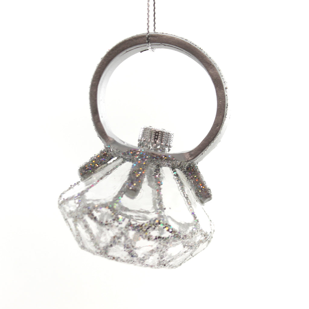 Holiday Ornaments Diamond Ring Resin Ornament