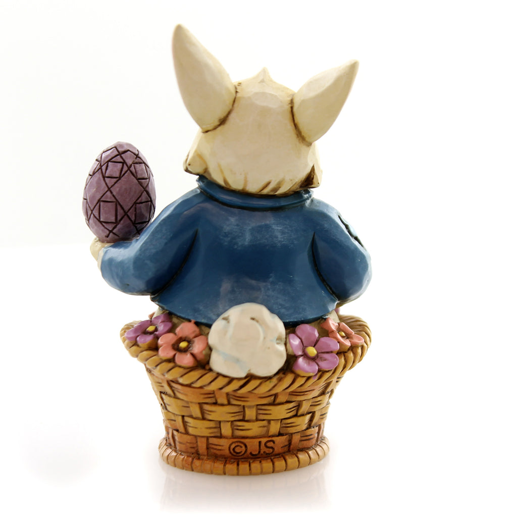 Jim Shore Easter Bunny Basket Mini Figurine