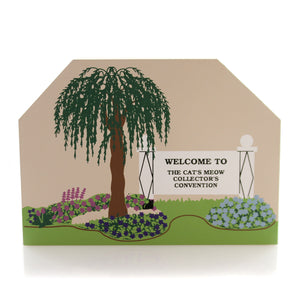 Cats Meow Village Collector Convention Sign Keepsake