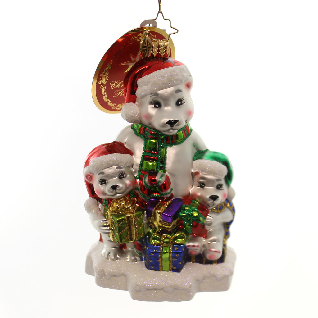 Christopher Radko Polar Exchange Glass Ornament