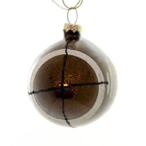 Holiday Ornaments Football Glass Ornament