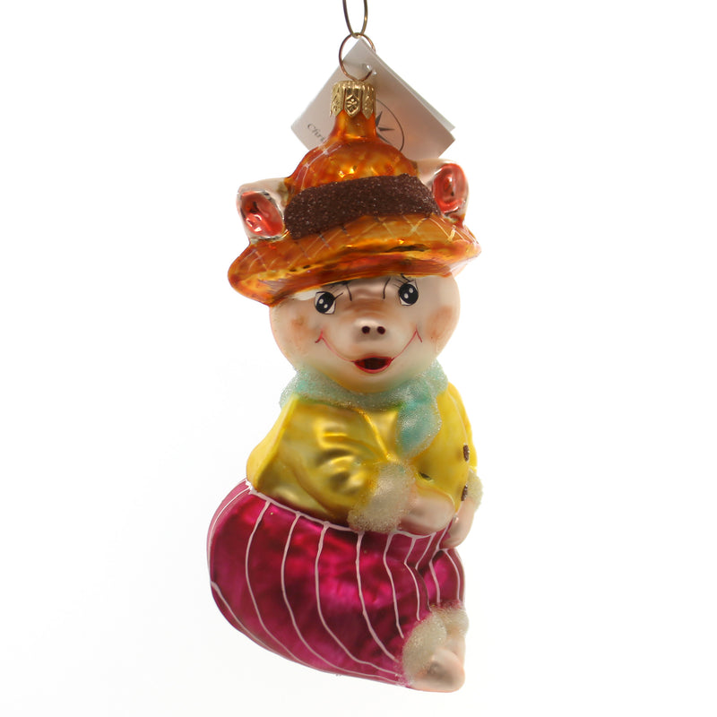 Christopher Radko Aunt Peggy Glass Ornament