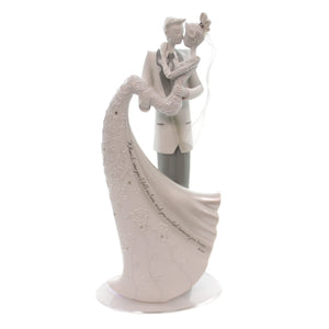 Wedding Kiss Cake Topper Figurine