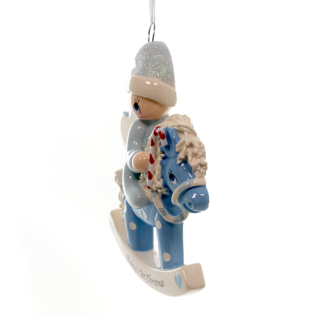 Personalized Ornament Blue Rocking Horse Personalized Ornament