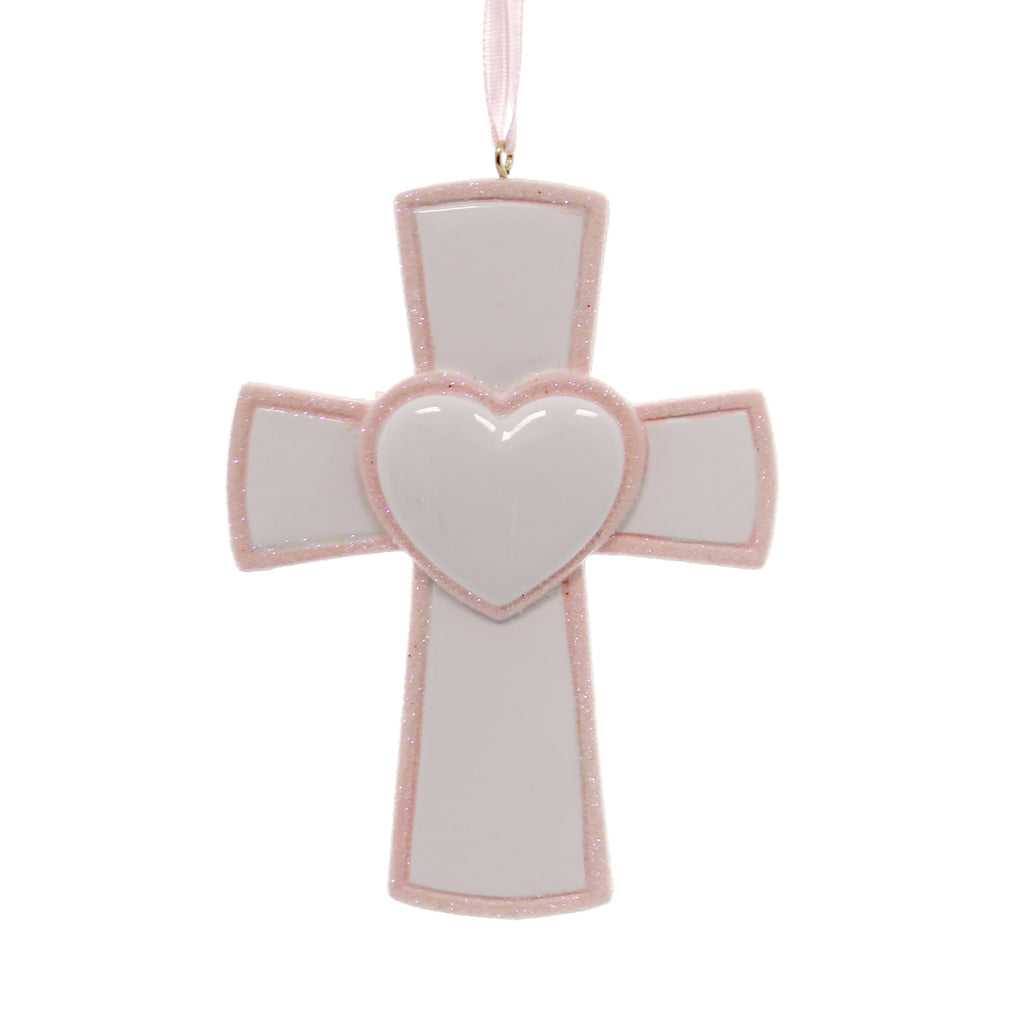 Personalized Ornament Pink Cross Personalized Ornament