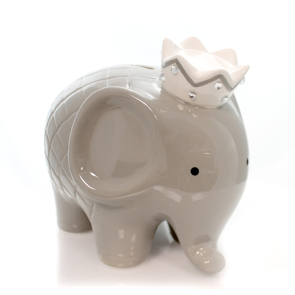 Gray Coco Elephant Bank 3780Gy Bank Piggy Banks And Banks - SBKGIFTS.COM - SBK Gifts Christmas Shop Cincinnati - Story Book Kids