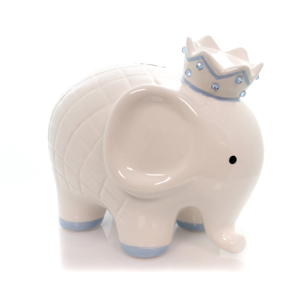 White/Blue Coco Elephant Bank 3781Bl Bank Piggy Banks And Banks - SBKGIFTS.COM - SBK Gifts Christmas Shop Cincinnati - Story Book Kids