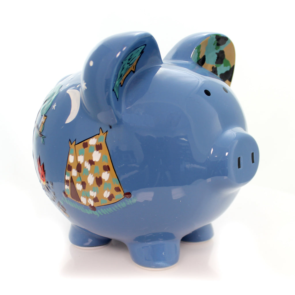 Camping Piggy Bank 36844 Bank Piggy Banks And Banks - SBKGIFTS.COM - SBK Gifts Christmas Shop Cincinnati - Story Book Kids