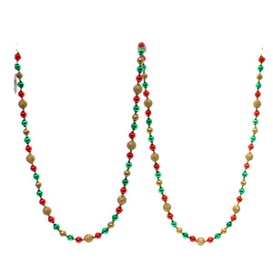 Christmas Ball Garland.Christina S World Christmas Ball Garland Glass Red Green Gold Glittered Gif251