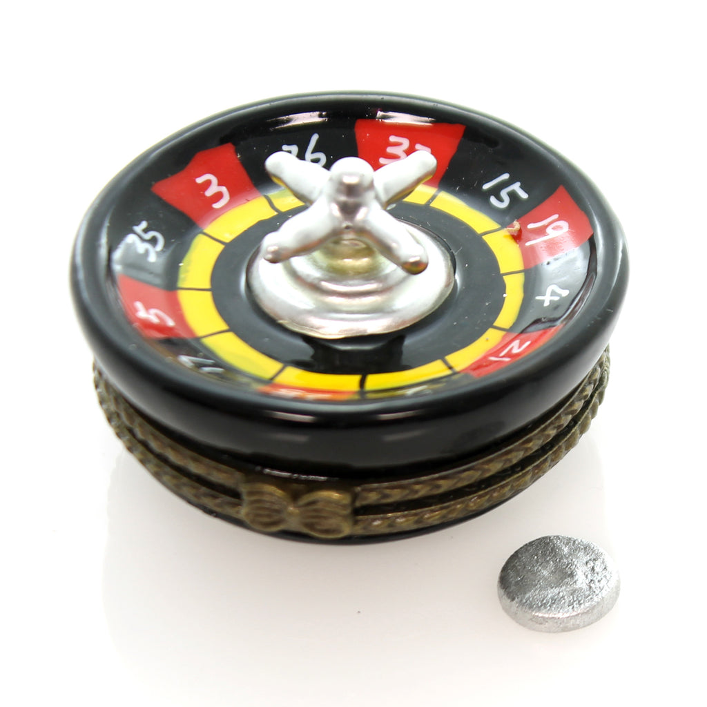 Hinged Trinket Box Roulette Wheel Treasure Box