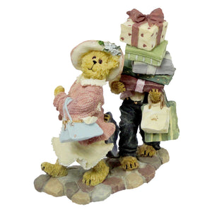 Boyds Bears Resin Ms Shopsalot W/ Schlepper Figurine