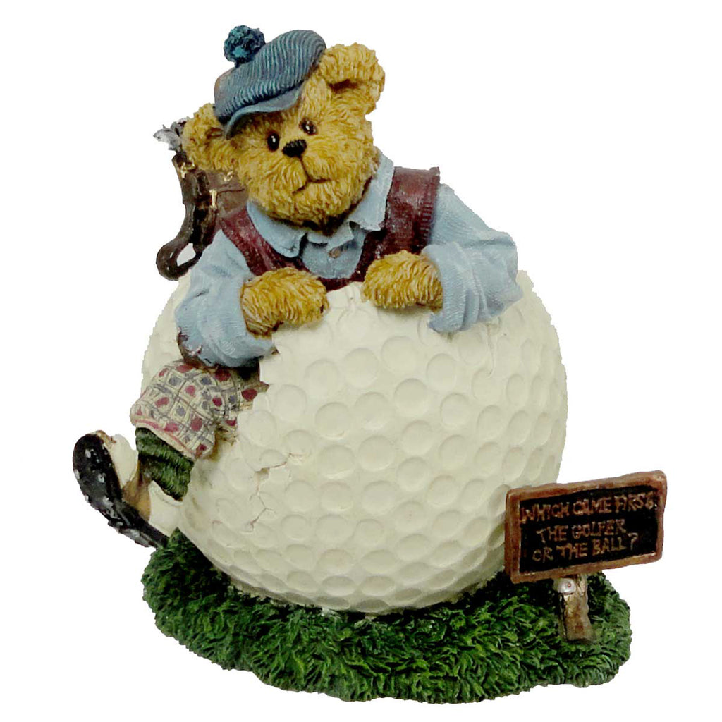 Boyds Bears Resin Wilson Puttenstuff Par For The Course Figurine