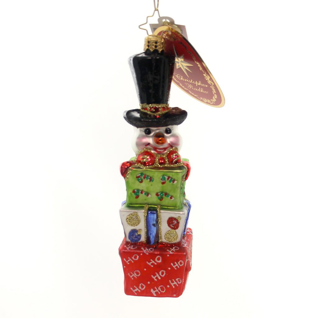 Christopher Radko Wrapped N Ready Glass Ornament