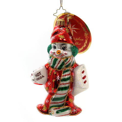 Christopher Radko Cuddle Up Cutie Glass Ornament 28151