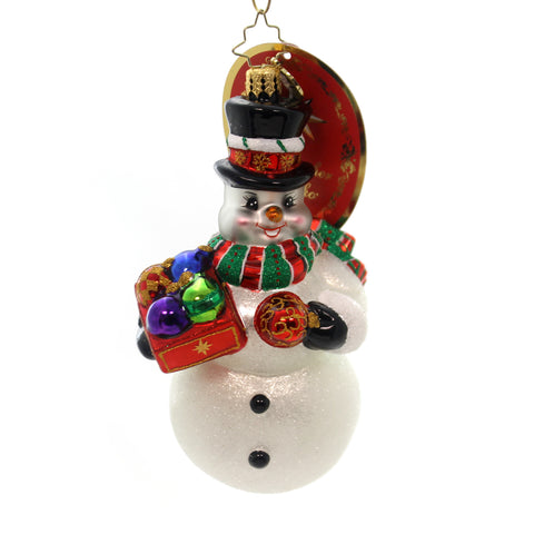 Christopher Radko Frosty's Trimmings Glass Ornament 28195