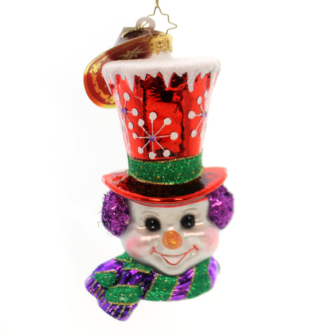 Christopher Radko Snow-Top Frosty Glass Ornament 28213