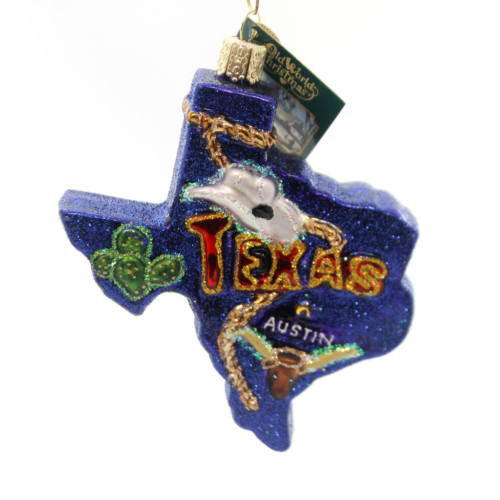 State Of Texas 36187 Old World Christmas Glass Ornaments - SBKGIFTS.COM - SBK Gifts Christmas Shop Cincinnati - Story Book Kids