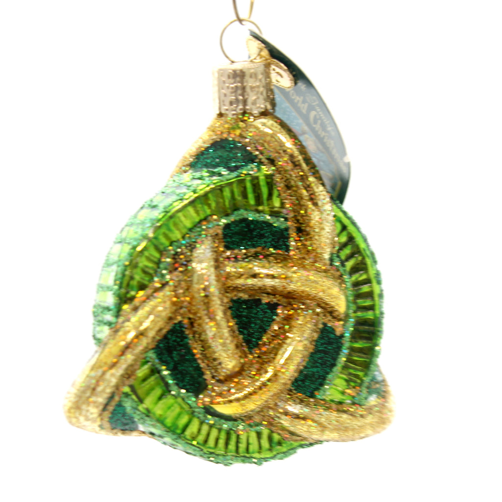 Old World Christmas Trinity Knot Glass Ornament