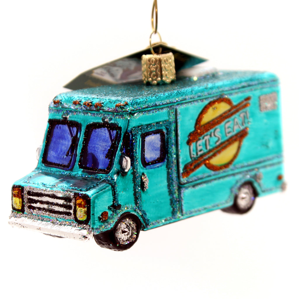 Old World Christmas Food Truck Glass Ornament
