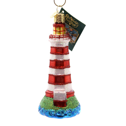 Old World Christmas Sambro Lighthouse Glass Ornament 28402
