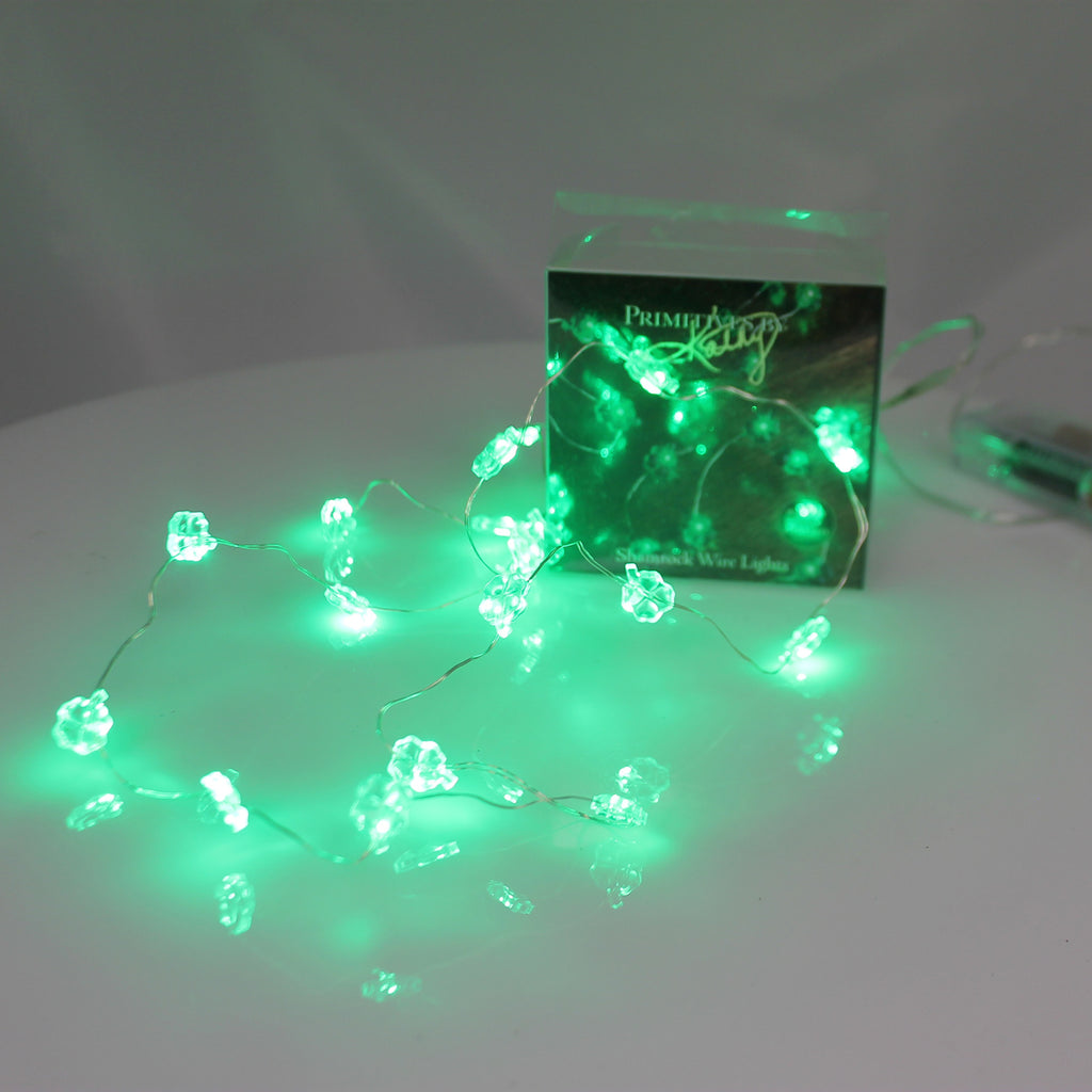 Sant Patricks Shamrock Wire Lights Decorative Lights