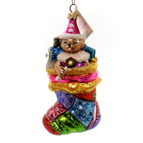 Christopher Radko Patchwork Wonders Glass Ornament 28474