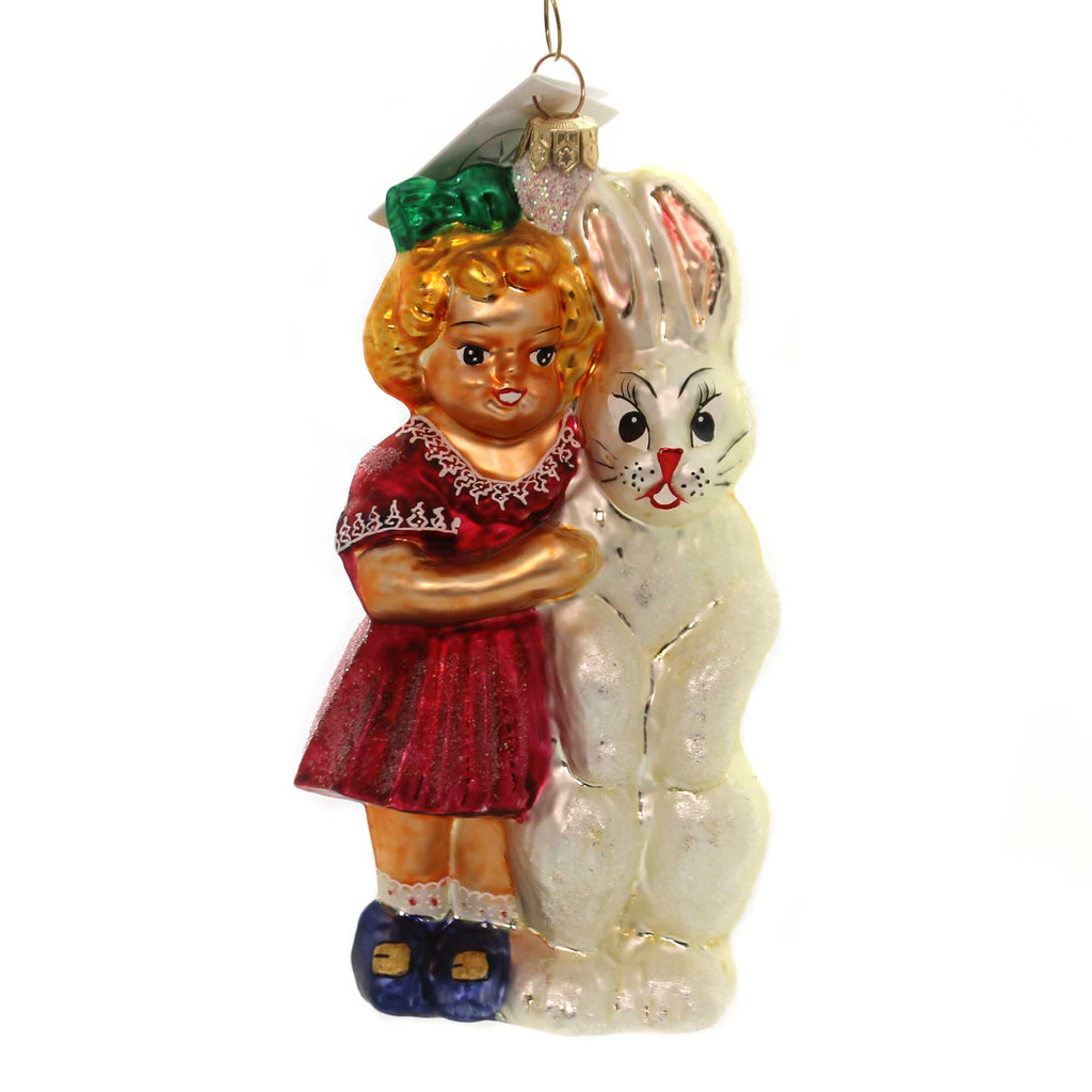 Christopher Radko BRIGHT EYE AND BUSHY TAIL. Glass Bunny Easter Rabbit 971760