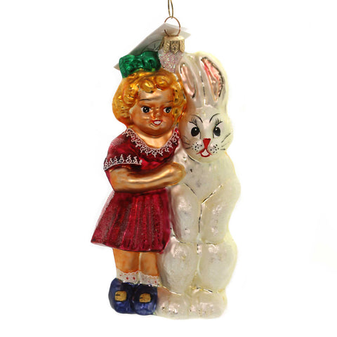 Christopher Radko THINKING OF YOU Glass Bunny Rabbit Easter 995010