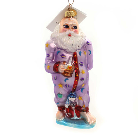 Christopher Radko SANTA JAMAS Glass Christmas PJ Santa 002810 28501
