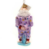 Christopher Radko SANTA JAMAS Glass Christmas Pj Santa 002810