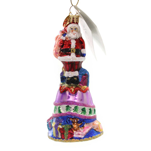 Christopher Radko JOLLY RINGER Glass Santa Bell 0106880 28514
