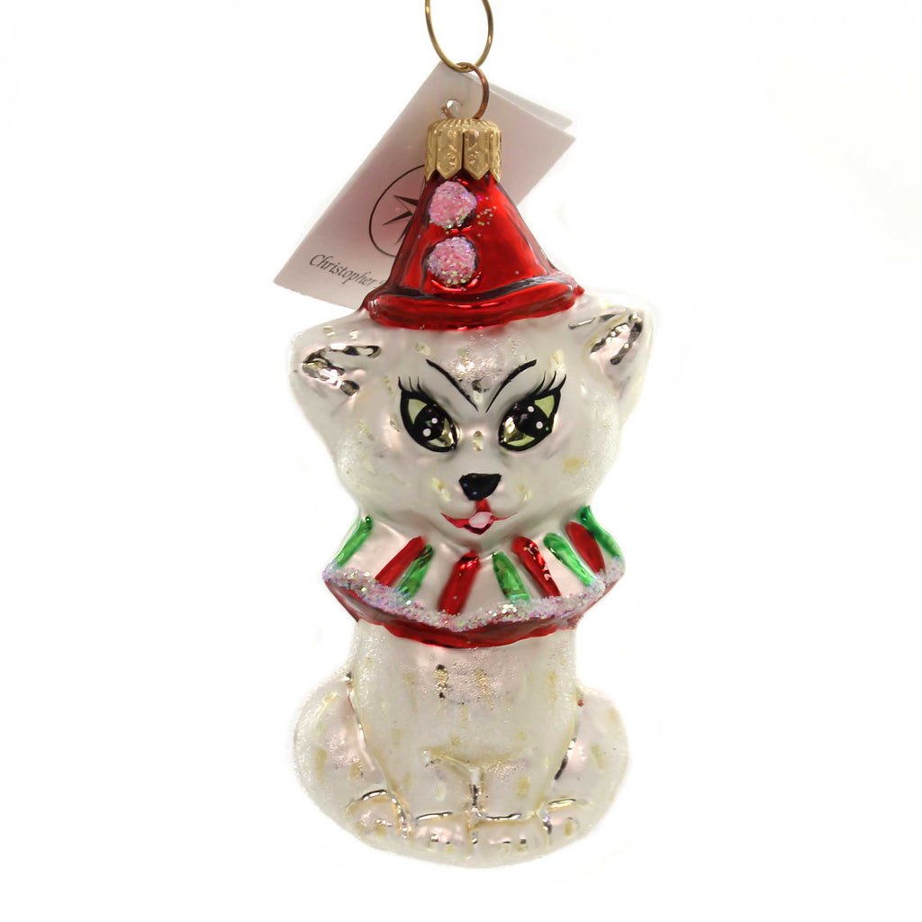 Christopher Radko KITTY CLOWN Glass Cat 971780