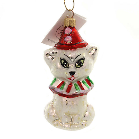 Christopher Radko KITTY CLOWN Glass Cat 971780 28520