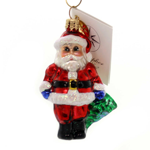 Christopher Radko HAPPY CHAP GEM Glass Ornament Little Gem Santa 0107190 28563